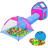 tectake 800151 Tente Igloo pour Enfants avec Tunnel + 200 Balles + Sac - Tente...