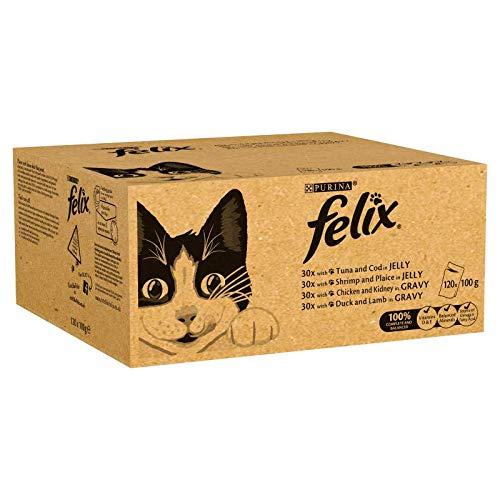 Alimento húmedo para gatos adultos, 120 Bolsas