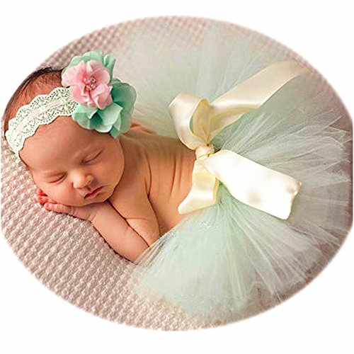 Newborn Girl Photography Outfits - Baby Photo Props Tutu Skirt...
