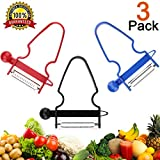 Magic Trio Peelers Set of 3 New Fruit & Vegetable Kitchen Starter Kit for Mom 2018 NEW