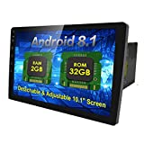 10.1' Android 8.1 2GB 32GB Double Din Car Stereo Radio with Bluetooth, GPS Navigation - Support Fastboot, WiFi, USB, MirrorLink, Backup Camera, AUX, Subwoofer, OBD2, Dash Cam