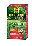 COMPO FLORANID Abono csped con herbicida. Larga duracin de hasta 3 meses, para 100 m, 3 kg