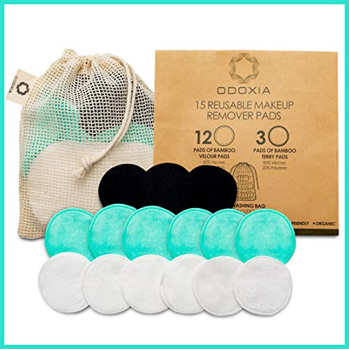 Reusable Makeup Remover Pads   Eco Friendly & Zero Waste Cotton Rounds   Beauty Products   15 Natural & Organic Face… 1