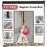 """72""""x80"""" Fiberglass Magnetic Screen Door - Mkicesky [Upgrade..."""