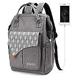 JOSEKO Mochila Antirrobo Impermeable, Multiusos Daypacks con Puerto de Carga USB, Mochila para portátil Mochilas Escolares Juveniles De 15.6 Pulgadas