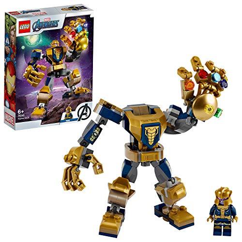 LEGO76141SuperHeroesMarvelAvengersThanosMechActionfigur,JuniorSetfürKinder...