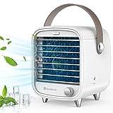 Mini Aircooler - Mini condizionatore portatile per camera da letto, sicurezza e risparmio energetico, grande serbatoio dell'acqua, lampada IED (richiesta in estate)
