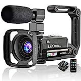Caméra Vidéo 2.7K Caméscope UHD 36MP Caméra de Vlog pour Youtube IR...