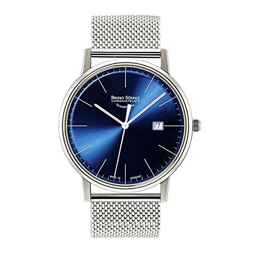 Bruno Söhnle Herren Analog Quarz Uhr mit Edelstahl Armband 17-13175-340