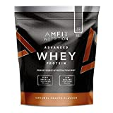 Amazon Brand- Amfit Nutrition - Advanced Whey Protein Powder Caramel Frappe, 32 Servings, 992 g