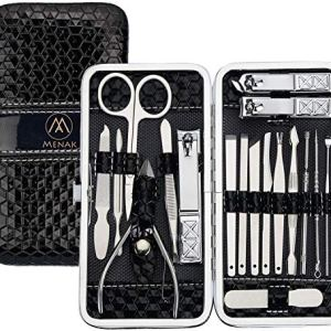 Nail Clippers Kit - Manicure Pedicure Set - Professional Stainless Steel Pedicure Tools 18pcs-Travel Scissors Grooming… 45