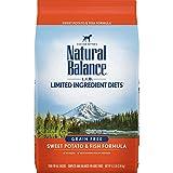 Natural Balance L.I.D. Limited Ingredient Diets Dry Dog Food, Sweet Potato & Fish Formula, 4.5 Pounds, Grain Free
