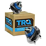 TRQ Front Rear Wheel Hub & Bearing Assembly Pair Set for Chevy Pontiac w/ABS