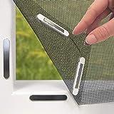 Easymaxx 03771Magic Click fenêtre Moustiquaire | protection contre les insectes | avec aimants Click-On | semi-transparent | à découper | Noir