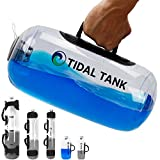 Tidal Tank - Kettle Bell Alternative 12 lbs - Adjustable Aqua Bag with Water - Core and Balance Aquabag - Portable Stability Fitness Equipment - Including Training Center - Kettle Bell