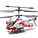 4.5 Canales RC Avión Helicóptero Control Remoto Drone Info o Aeronave Exterior para Niños con Resistencia a Choques y Giroscopio Adulto Interior Hobby Mini Cuchillas Voladoras Reemplazar Juguete de Av