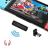 GuliKit Route Air Bluetooth Adapter for Nintendo Switch/ Switch Lite PS4 PC, Dual Stream Bluetooth Wireless Audio Transmitter with aptX Low Latency Connect Your AirPods Bluetooth Speakers Headphones