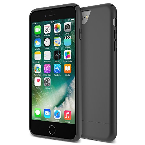 iPhone 7 Plus Case, Maxboost [Vibrance Series] Protective Slider Style Slim Cases Covers for Apple iPhone 7 Plus 2016 Soft-Interior Scratch Protection Finish - Black