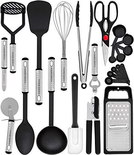 Home Hero Kitchen Utensil Set - 23 Nylon Cooking Utensils - Kitchen Utensils with Spatula - Kitchen Gadgets...