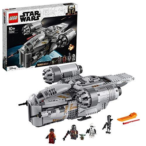 LEGO 75292 Star Wars The Mandalorian Nave Espacial del Cazarrecompensas Juguete con Minifigura del...