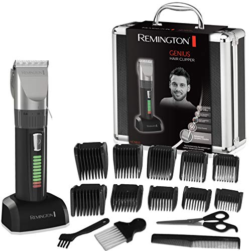 Remington Coffret Cheveux, Tondeuse Cheveux, 10 Sabots, Lames Auto-Affûtées Céramique Avancée, Moteur Pro Puissant, Charge Rapide, Autonomie - HC5810