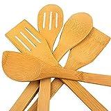 hollylife 5PCS Ustensiles de Cuisine en Bois pour Poêle...
