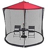 YUGN Outdoor Moustiquaire de Parasol de Jardin - Umbrella Table Screen avec Fermeture éclair