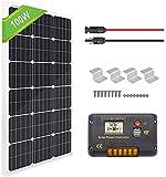 ECO-WORTHY Panneau solaire monocristallin 100W + Contrôleur de charge PWM...