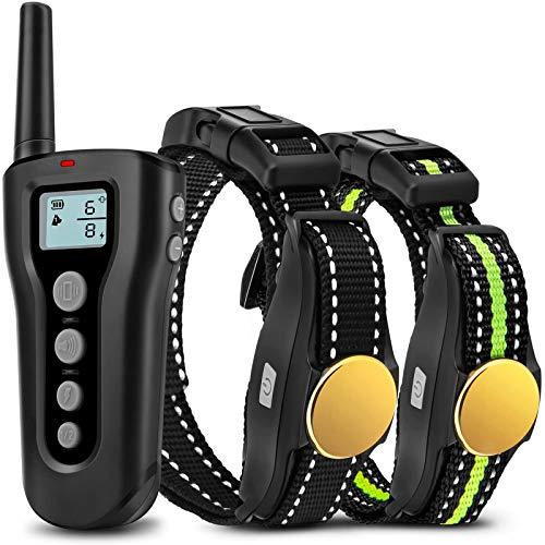 Bousnic Dog Training Collar 2 Dogs Upgraded 1000ft...