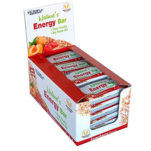 Victory Endurance Nature´s Energy Bar Fresa 60g, barrita energética con un 41% Frutas y 64% de hidratos de carbono, gran sabor y energía