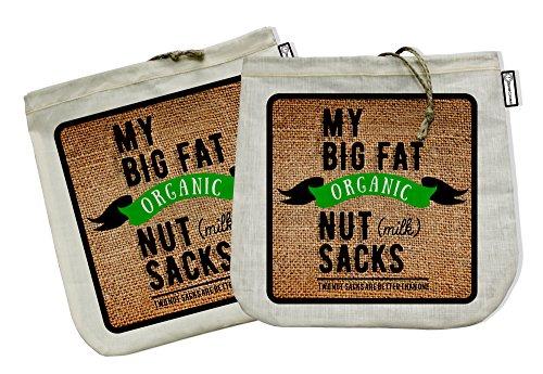 My Big Fat Organic Nut (milk) Sacks. Set of 2 Bags (12'x12')...