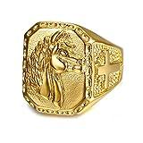 BOBIJOO Jewelry - Grosse Chevalière Bague Homme Tête de Cheval Acier INOX...