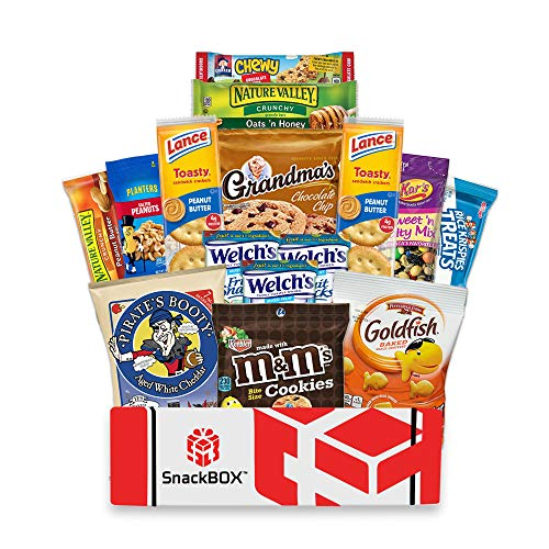 Care Package for College Students (15 Count), Military, Fathers Day, Finals, Birthday, Office Snacks, Date Night and Back to School with Chips, Cookies and Candy From SnackBOX
