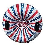 XQxiqi689sy Luge gonflable pour sports de Noël compatible avec adultes Rouge/blanc/bleu