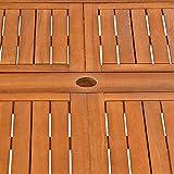 Deuba Sitzgruppe Moreno 8+1 Eukalyptusholz klappbar 9-TLG Tisch Sitzgarnitur Holz Gartenmöbel Garten Set - 8