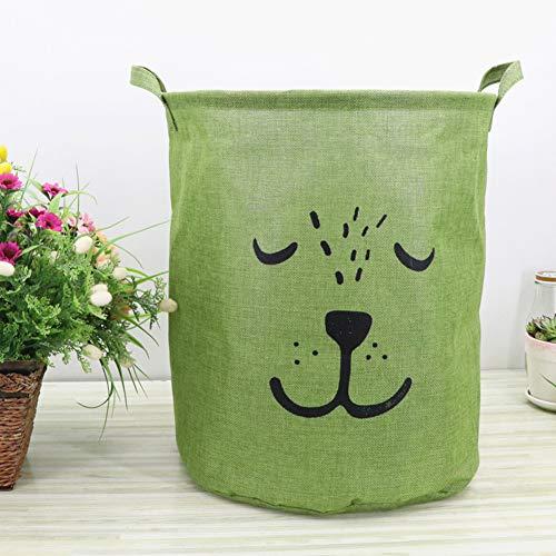 Lindong Kinderzimmer Wäschekorb Faltbar Wasserdicht Wäschebox Wäschesammler Aufbewahrungsbox Kinder Spielzeug Bekleidung Aufbewahrungskorb grün