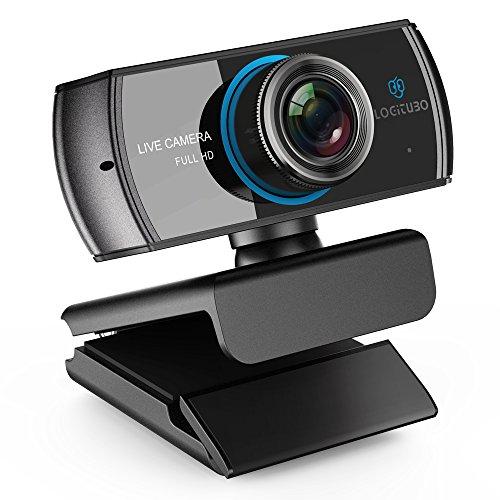 LOGITUBO HD Webcam 1080P Telecamera Live Streaming con Doppio Microfono Web Cam Funziona con Xbox One/PC/MacBook/TV Box Supporto OBS/Facebook/Youtube