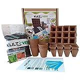 Kit de germination de laitue et de tomate (35 éléments): pots et plaques à semis...