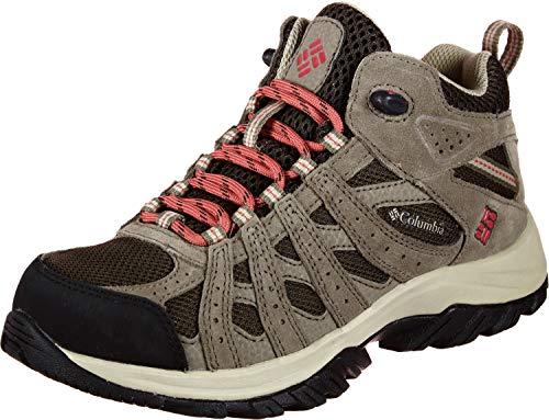 Columbia Canyon Point Mid, Zapatos de Senderismo Impermeables Mujer, Marrón, Rojo (Cordovan, Sunset Red), 40 EU