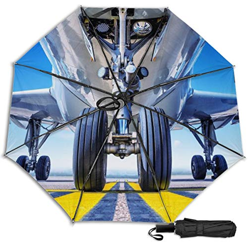 CUSZAT Travel Umbrella Windproof UV Protection (Landing Gear Background)