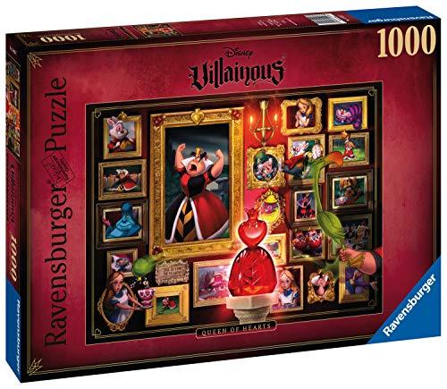 Ravensburger- Villainous: Queen of Hearts Disney Puzzle da Adulti, Multicolore, 1000 Pezzi, 15026