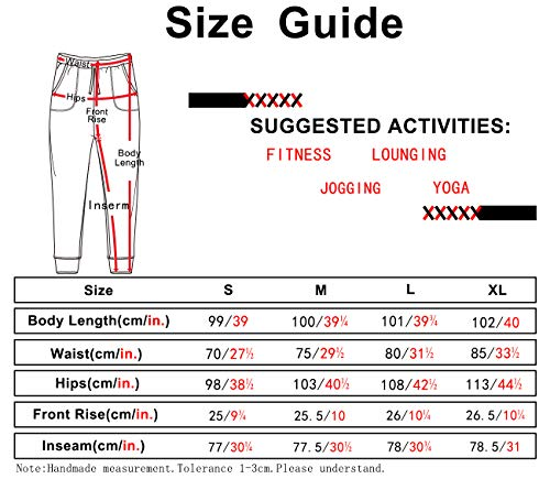 icyzone Women's Active Joggers Sweatpants - Athletic Yoga Lounge Pants with Pockets (Army, L) 6