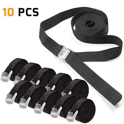KKtick 10 pezzi set di cinghie di fissaggio cinghie, ideale per il fissaggio al Portabici Auto...
