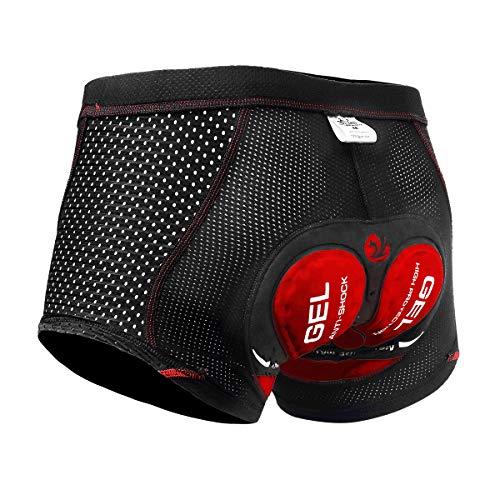 X-TIGER Herren Radunterhose Fahrradhosen mit 5D Sitzpolster Fahrrad MTB Unterwäsche Pro Bike Boxer Größe Kurze Hosen