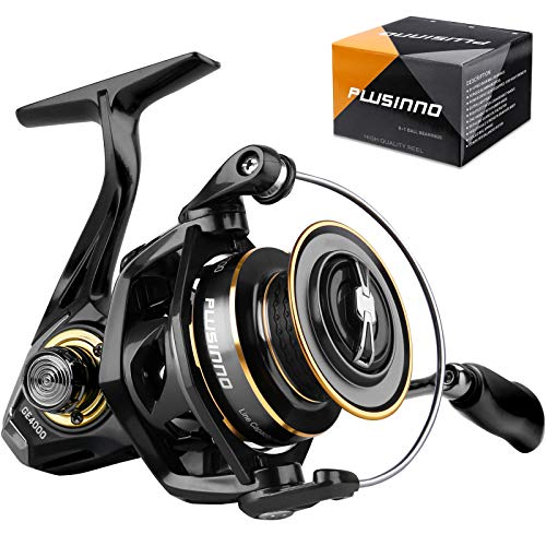 PLUSINNO Spinning Reel, 9+1 BB Fishing Reel, Ultra Smooth Powerful, CNC Aluminum Spool for Saltwater...