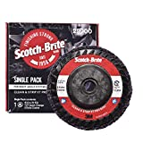 """Scotch-Brite Clean and Strip XT Pro Disc - Rust and Paint Stripping Disc - 4.5"""" diam. x 5/8-11 Quick Change Thread - Extra Coarse Silicon Carbide - Pack of 1"""