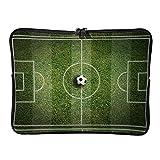 Bolsas de ordenador portátil de campo de fútbol de primera clase grande - Bolsas de campo verde para tabletas adecuadas para viajeros de 15 pulgadas