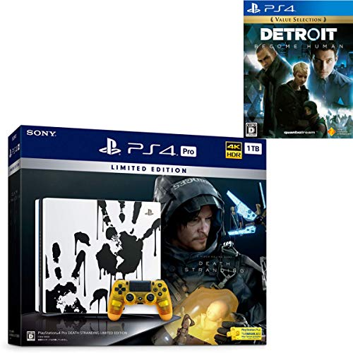 PlayStation 4 Pro DEATH STRANDING LIMITED EDITION + Detroit: Become Human セット【Amazon.co.jp特典】...