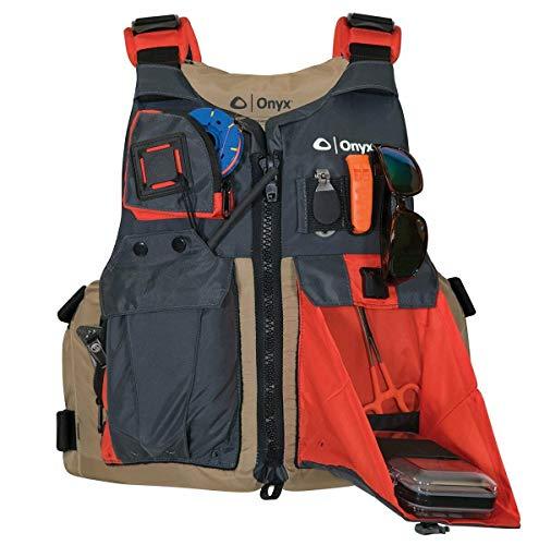 Kayak Fishing Life Jacket Onyx One Size Tan