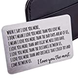 Wallet Insert Card Anniversary Gifts For Men Husband From Wife...